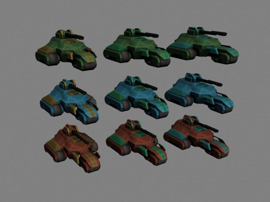 Lowpoly Scifi Military Vehicles Pack royalty-free 3d model - Preview no. 45