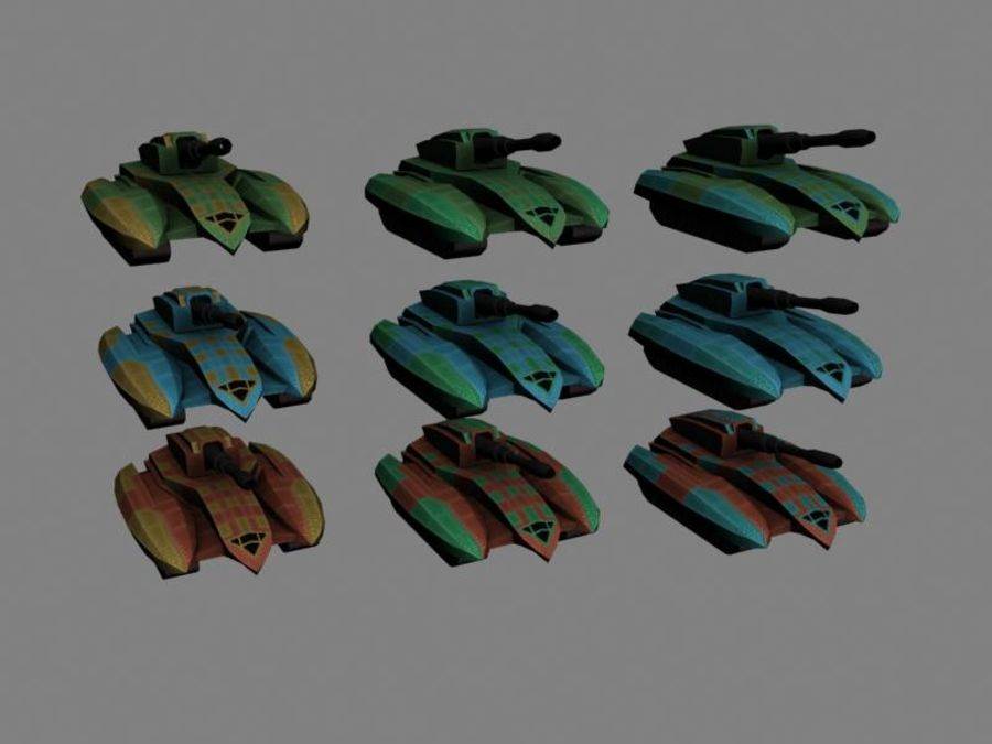 Lowpoly Scifi Military Vehicles Pack royalty-free 3d model - Preview no. 10