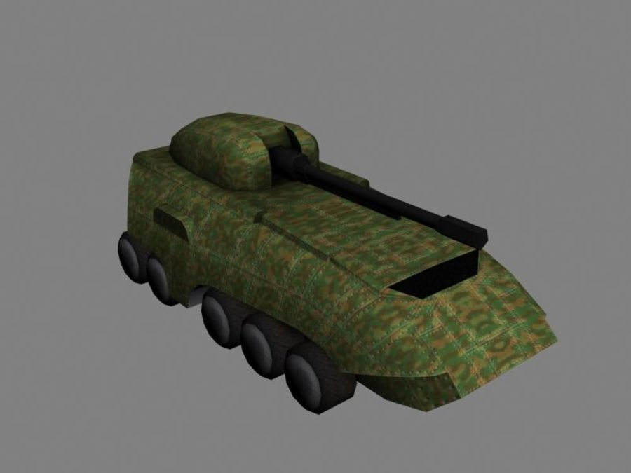 Lowpoly Scifi Military Vehicles Pack royalty-free 3d model - Preview no. 27