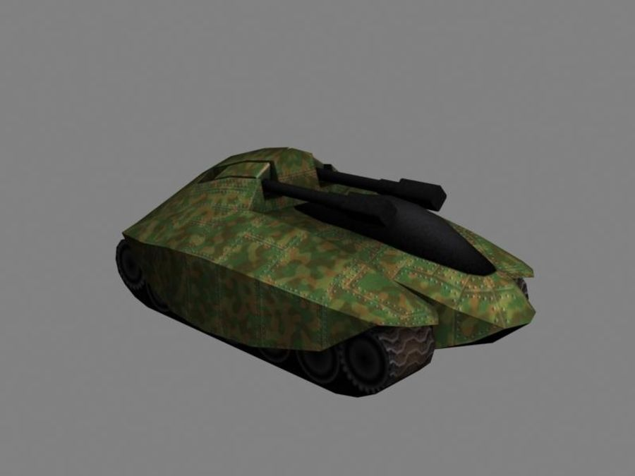 Lowpoly Scifi Military Vehicles Pack royalty-free 3d model - Preview no. 17