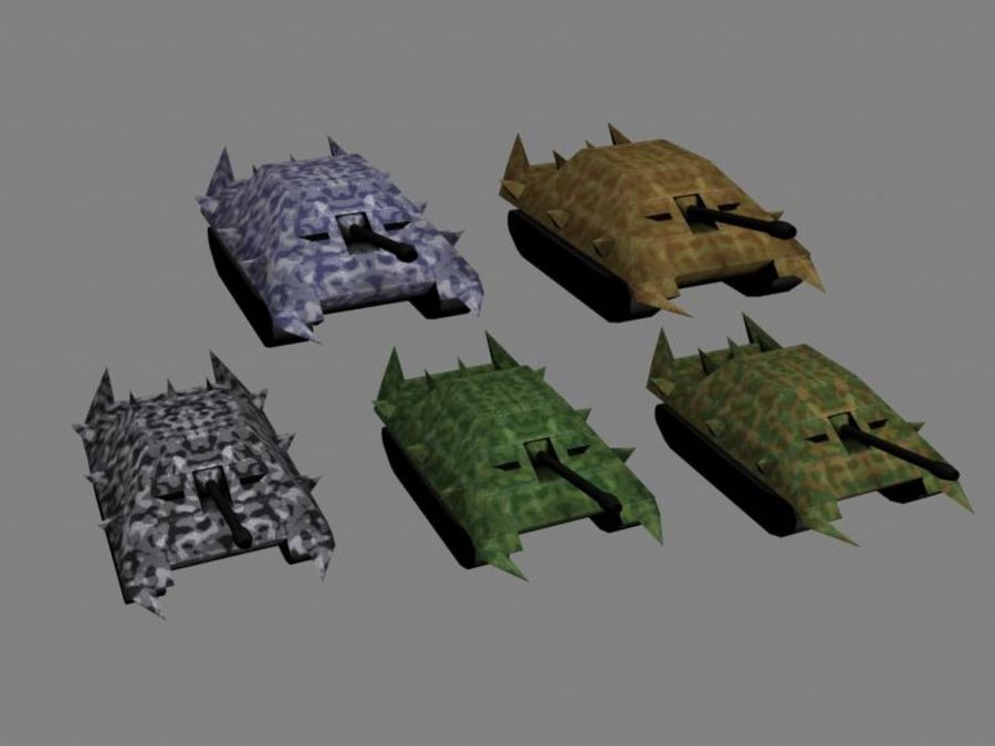 Lowpoly Scifi Military Vehicles Pack royalty-free 3d model - Preview no. 34