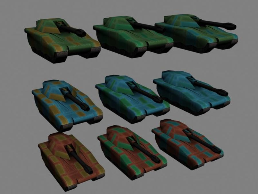 Lowpoly Scifi Military Vehicles Pack royalty-free 3d model - Preview no. 40