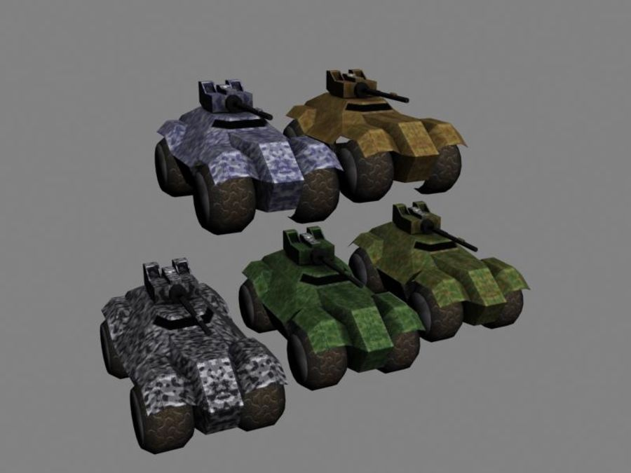 Lowpoly Scifi Military Vehicles Pack royalty-free 3d model - Preview no. 4