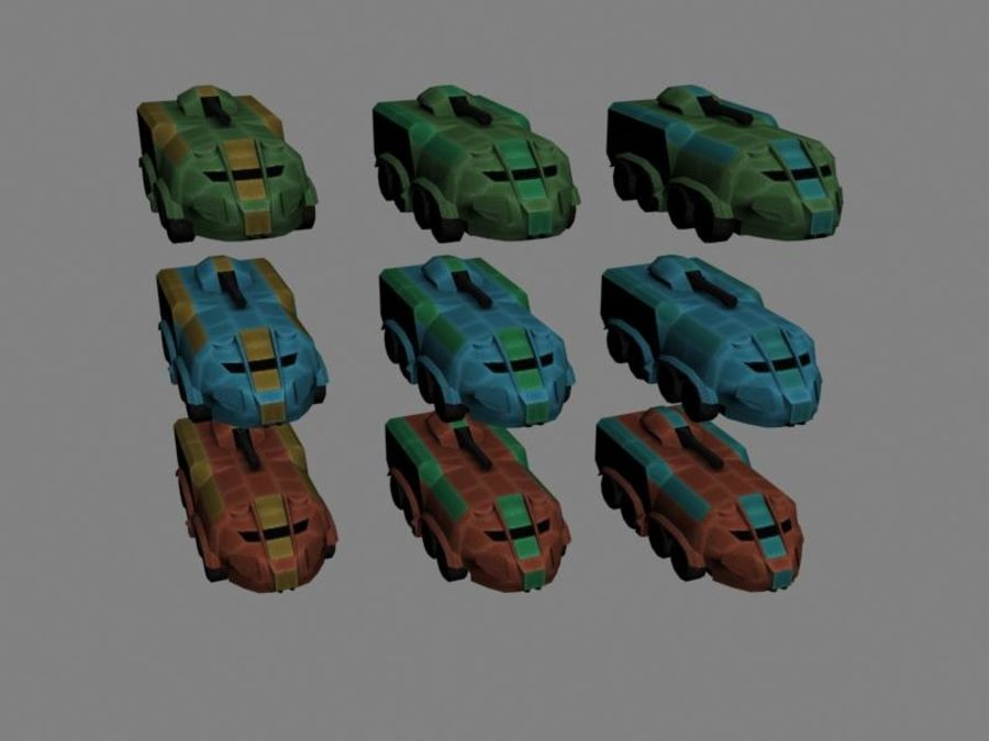 Lowpoly Scifi Military Vehicles Pack royalty-free 3d model - Preview no. 50