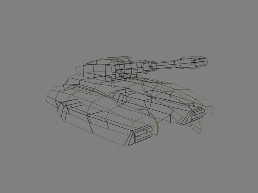Lowpoly Scifi Military Vehicles Pack royalty-free 3d model - Preview no. 8