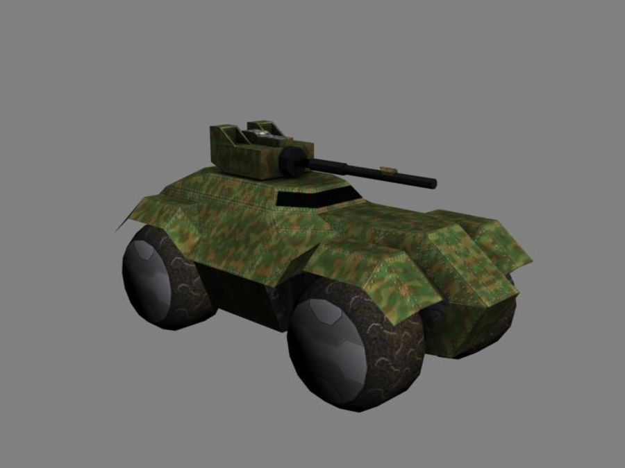 Lowpoly Scifi Military Vehicles Pack royalty-free 3d model - Preview no. 2