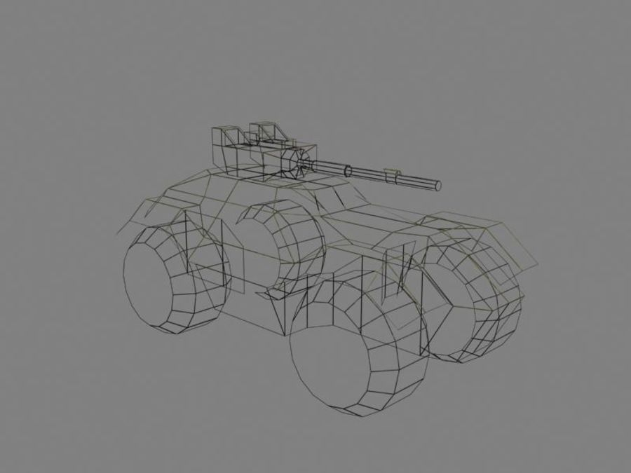 Lowpoly Scifi Military Vehicles Pack royalty-free 3d model - Preview no. 3