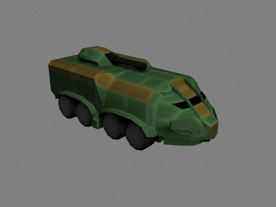 Lowpoly Scifi Military Vehicles Pack royalty-free 3d model - Preview no. 46