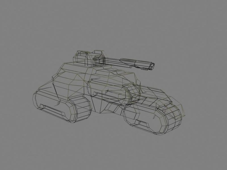 Lowpoly Scifi Military Vehicles Pack royalty-free 3d model - Preview no. 43