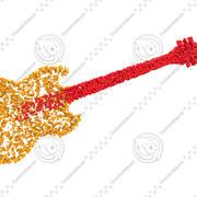 Bubblig gitarr 3d model