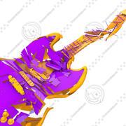 砕けたギター 3d model