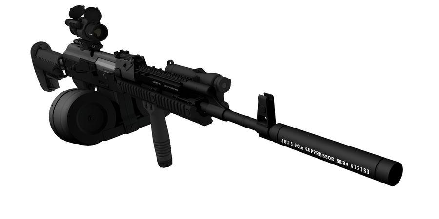 AK-47 personalizzato royalty-free 3d model - Preview no. 5