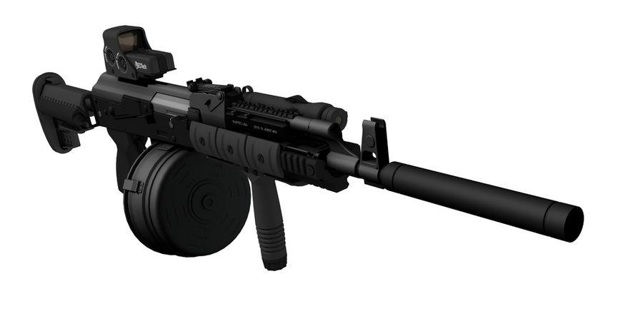 AK-47 personalizzato royalty-free 3d model - Preview no. 1