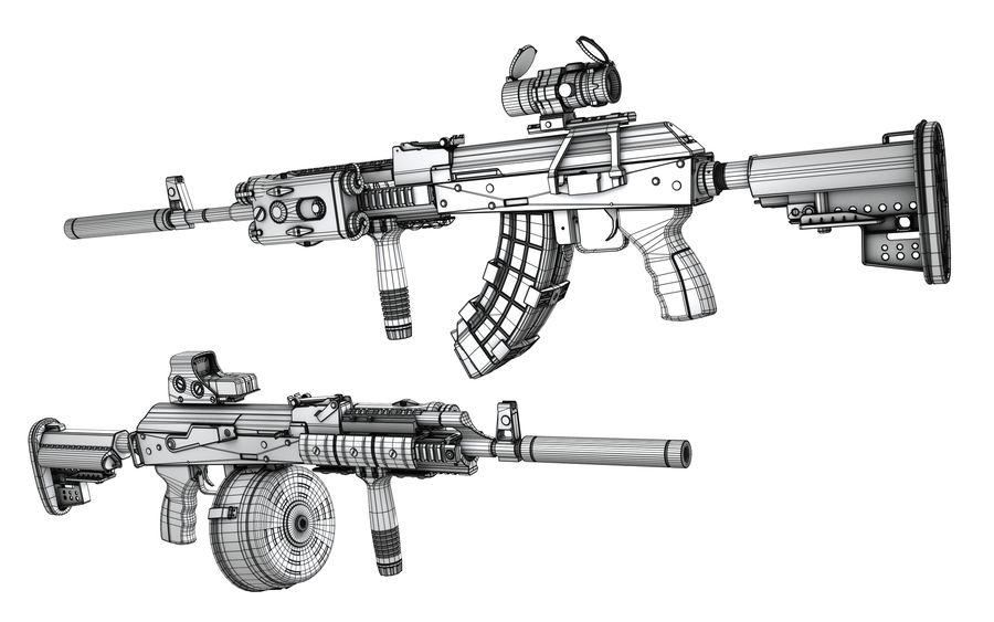 AK-47 personalizzato royalty-free 3d model - Preview no. 12