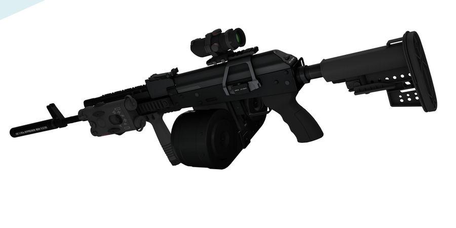 AK-47 personalizzato royalty-free 3d model - Preview no. 4