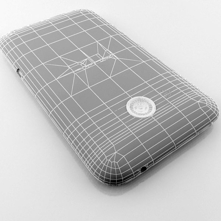 HTC Desire 200 белый и черный royalty-free 3d model - Preview no. 29