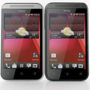 HTC Desire 200 Weiß und Schwarz 3d model