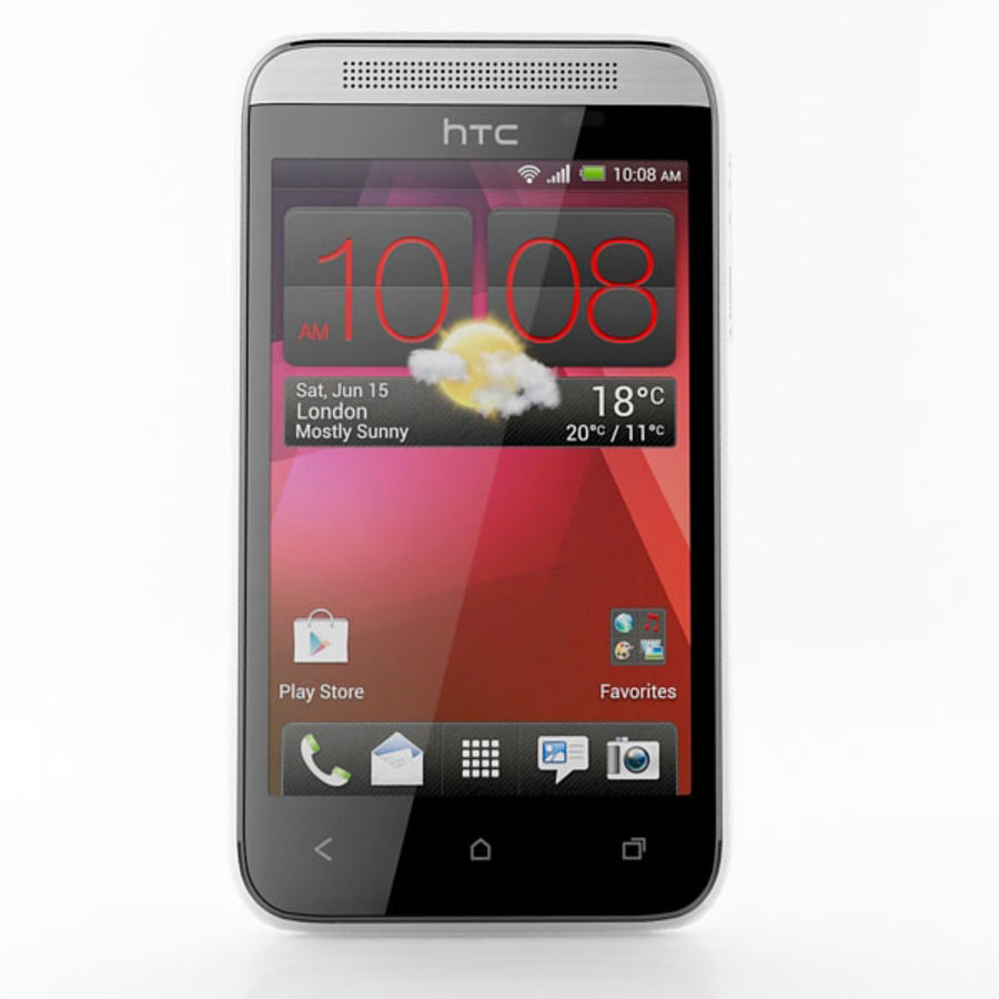 HTC Desire 200 белый и черный royalty-free 3d model - Preview no. 7