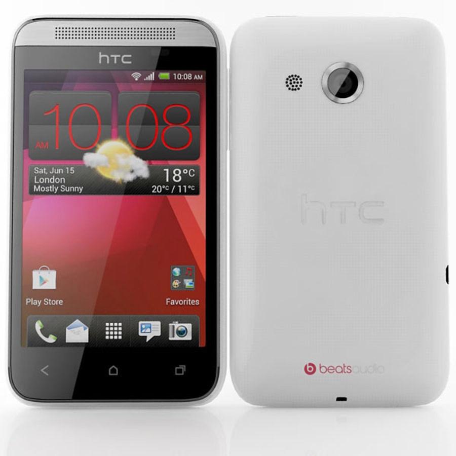 HTC Desire 200 белый и черный royalty-free 3d model - Preview no. 4