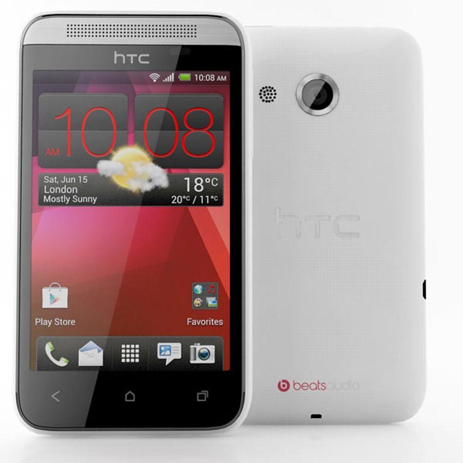 HTC Desire 200 белый и черный royalty-free 3d model - Preview no. 5