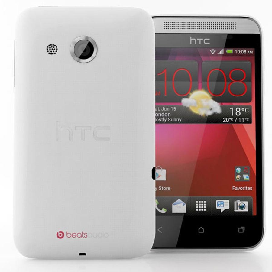 HTC Desire 200 белый и черный royalty-free 3d model - Preview no. 6