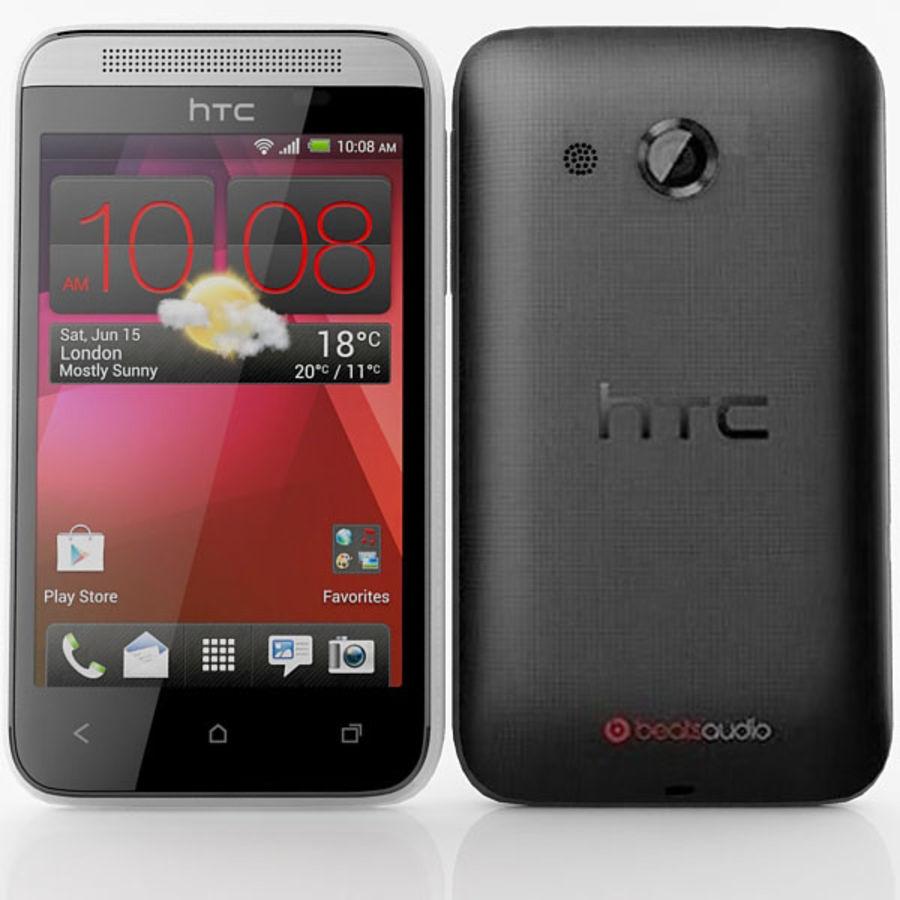 HTC Desire 200 белый и черный royalty-free 3d model - Preview no. 2