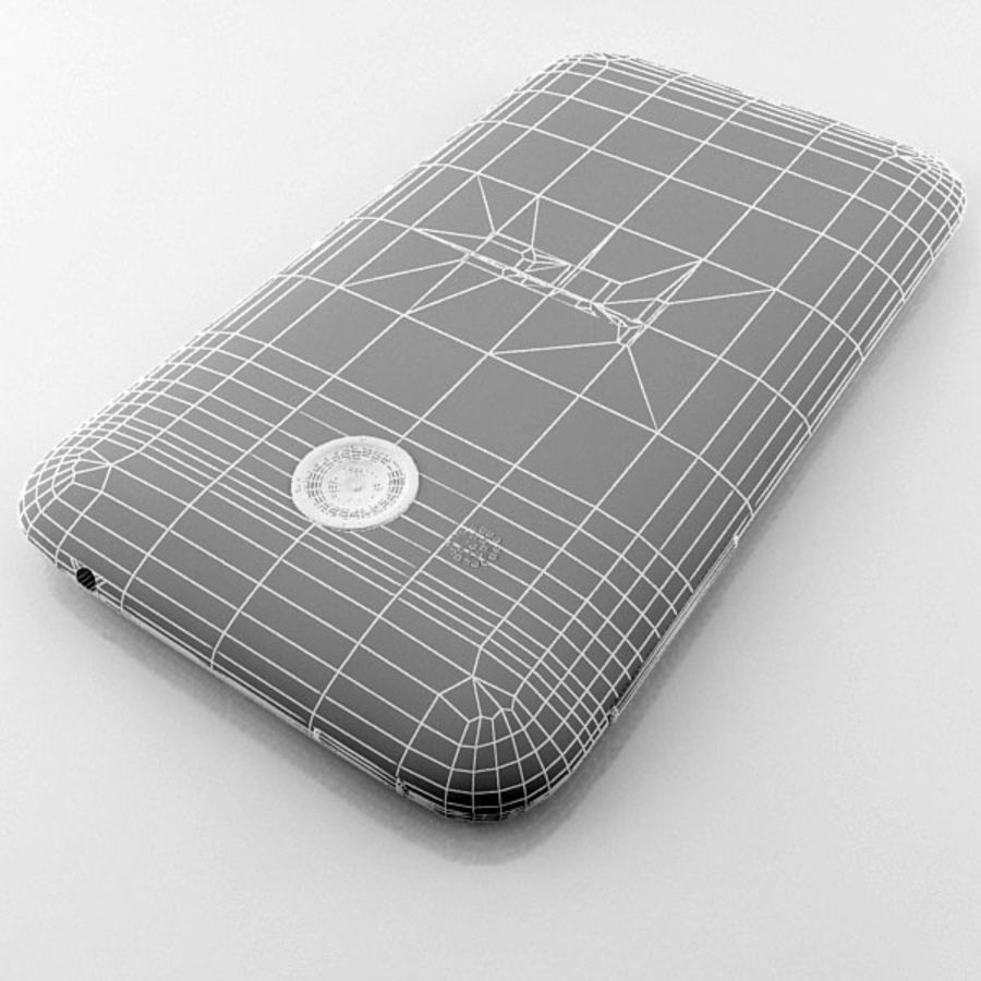 HTC Desire 200 белый и черный royalty-free 3d model - Preview no. 30