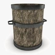 나무 냄비 장식 3d model