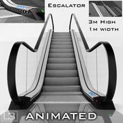 エスカレーター3m高アニメーション 3d model