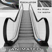 Rulltrappa 4 m hög animerad 3d model