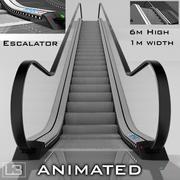 エスカレーター6m高アニメーション 3d model