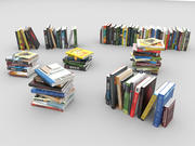 Books Collection Set 3d model