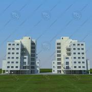 zwei Gebäude 3d model