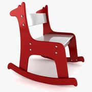 长颈鹿摇椅 3d model