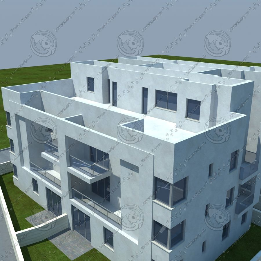home(1) royalty-free 3d model - Preview no. 4