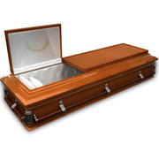 High Def Coffin Cherry Wood 3d model