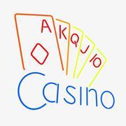 Casino Neon Sign 3d model