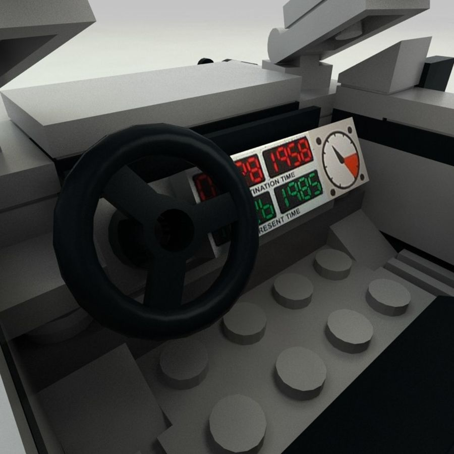 Delorean Lego De volta ao futuro royalty-free 3d model - Preview no. 10