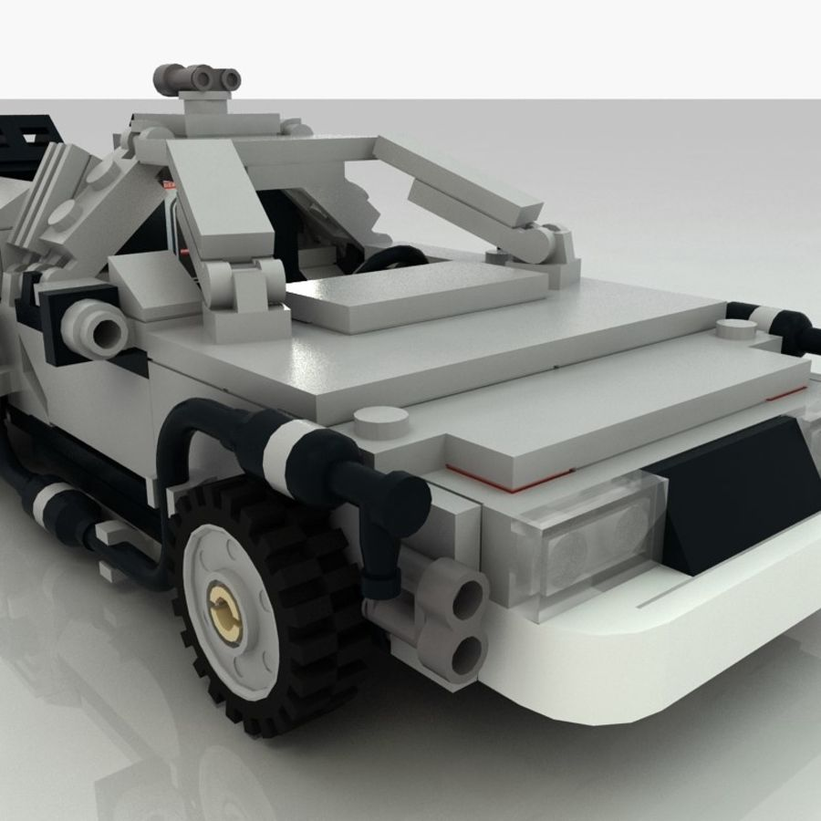 Delorean Lego De volta ao futuro royalty-free 3d model - Preview no. 12