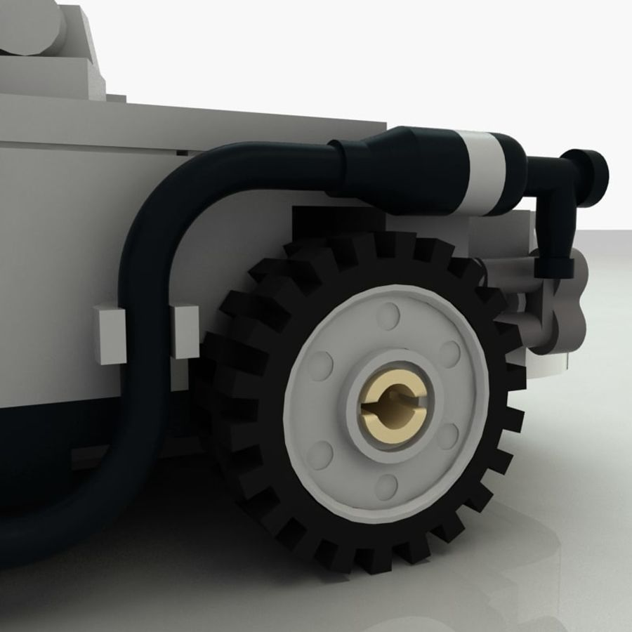 Delorean Lego De volta ao futuro royalty-free 3d model - Preview no. 14