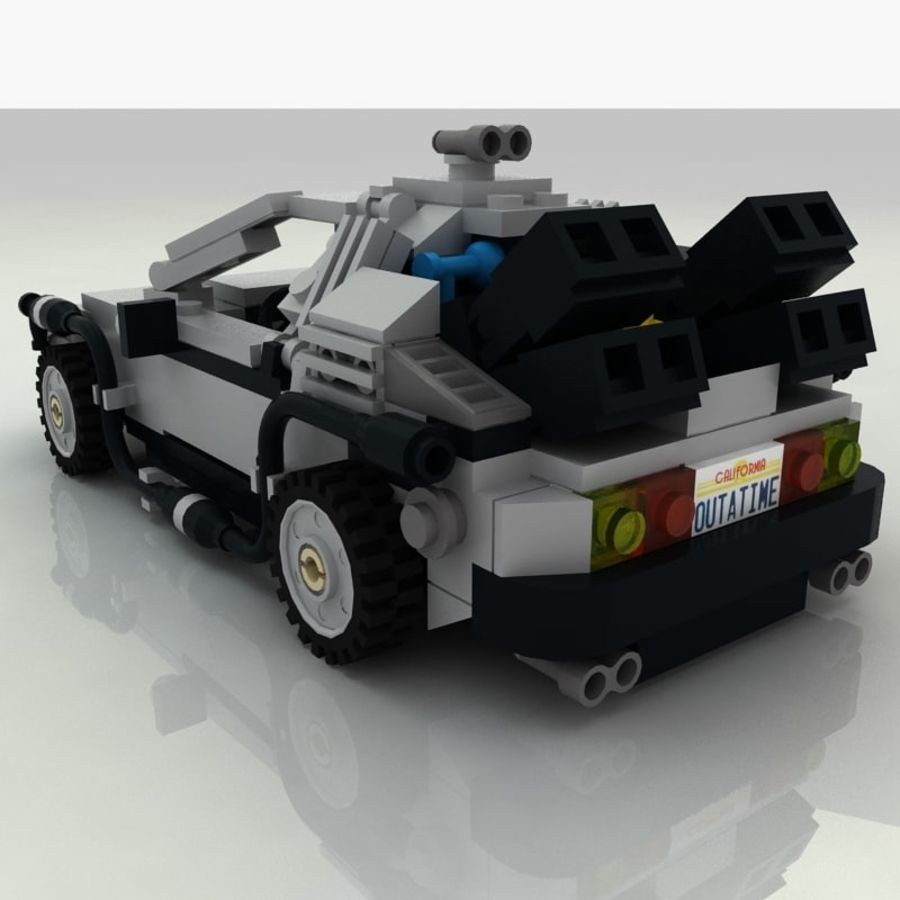 Delorean Lego De volta ao futuro royalty-free 3d model - Preview no. 4