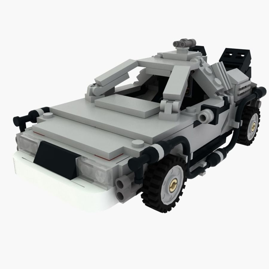 Delorean Lego De volta ao futuro royalty-free 3d model - Preview no. 1
