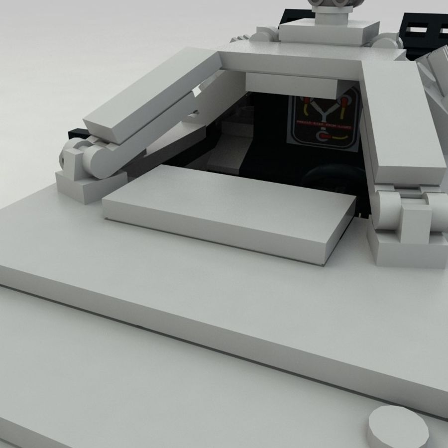 Delorean Lego De volta ao futuro royalty-free 3d model - Preview no. 13