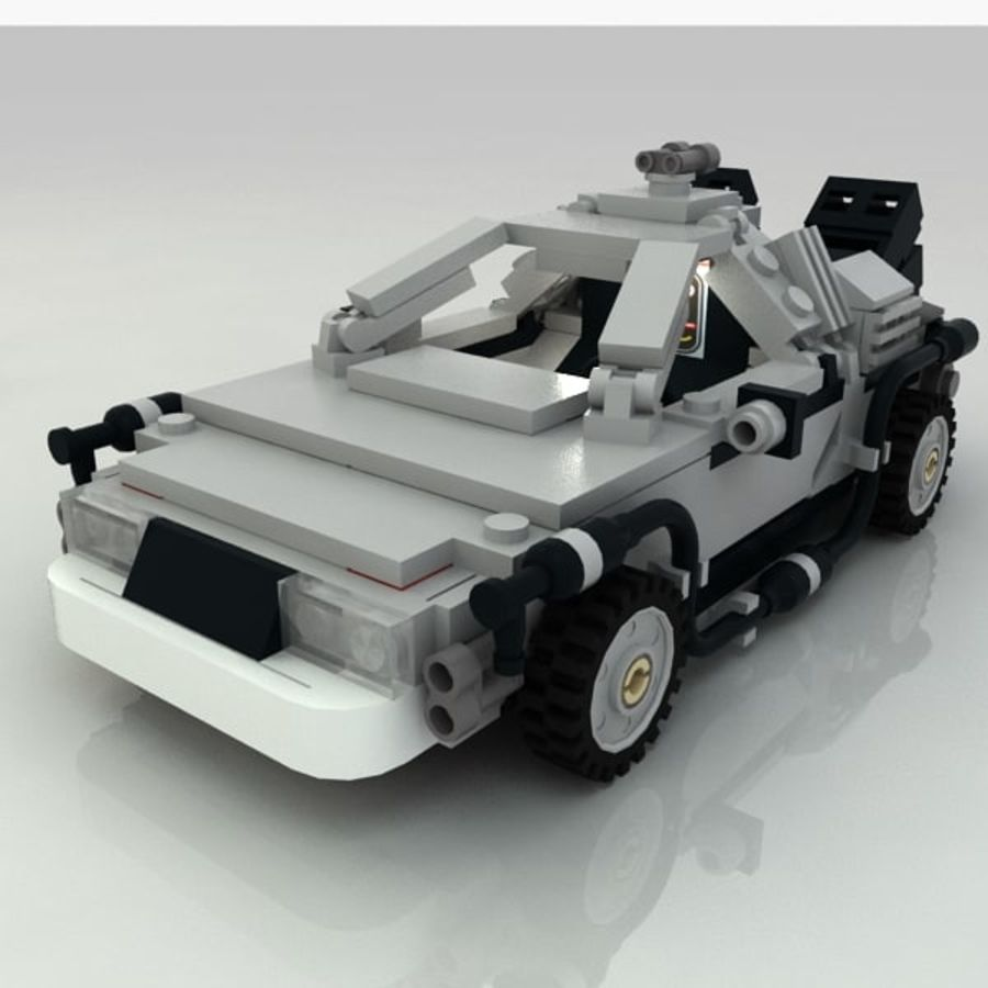 Delorean Lego De volta ao futuro royalty-free 3d model - Preview no. 2