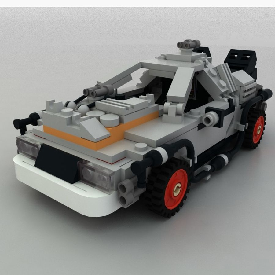 Delorean Lego De volta ao futuro royalty-free 3d model - Preview no. 9