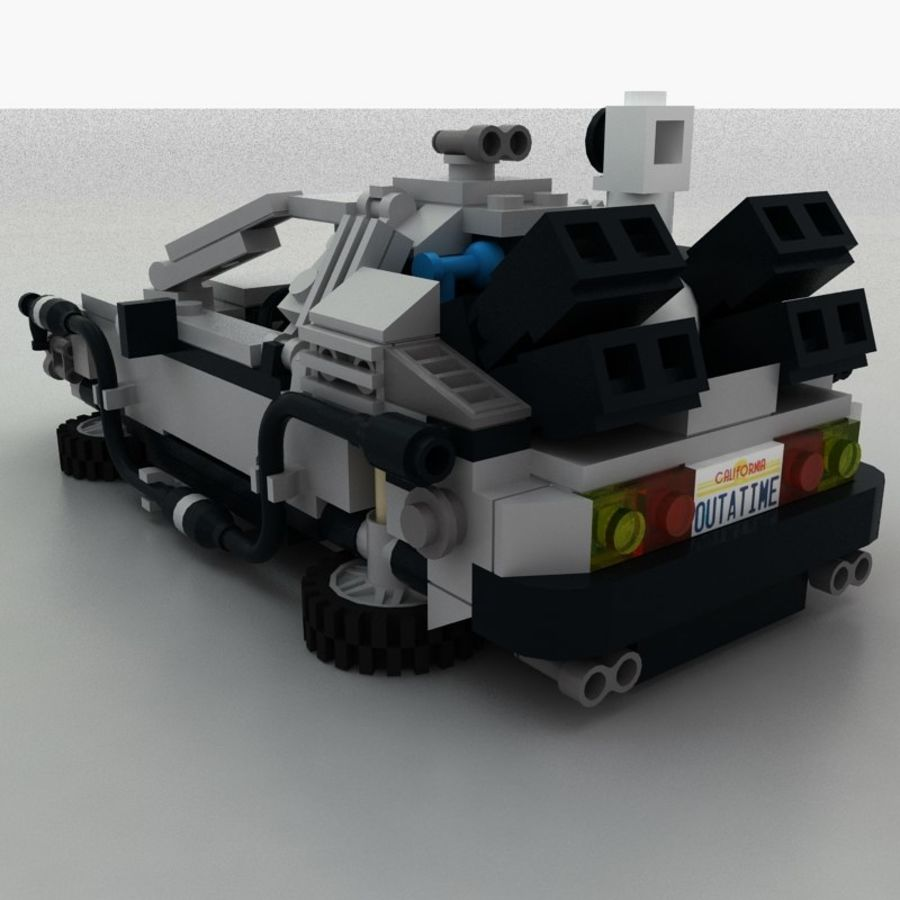 Delorean Lego De volta ao futuro royalty-free 3d model - Preview no. 8