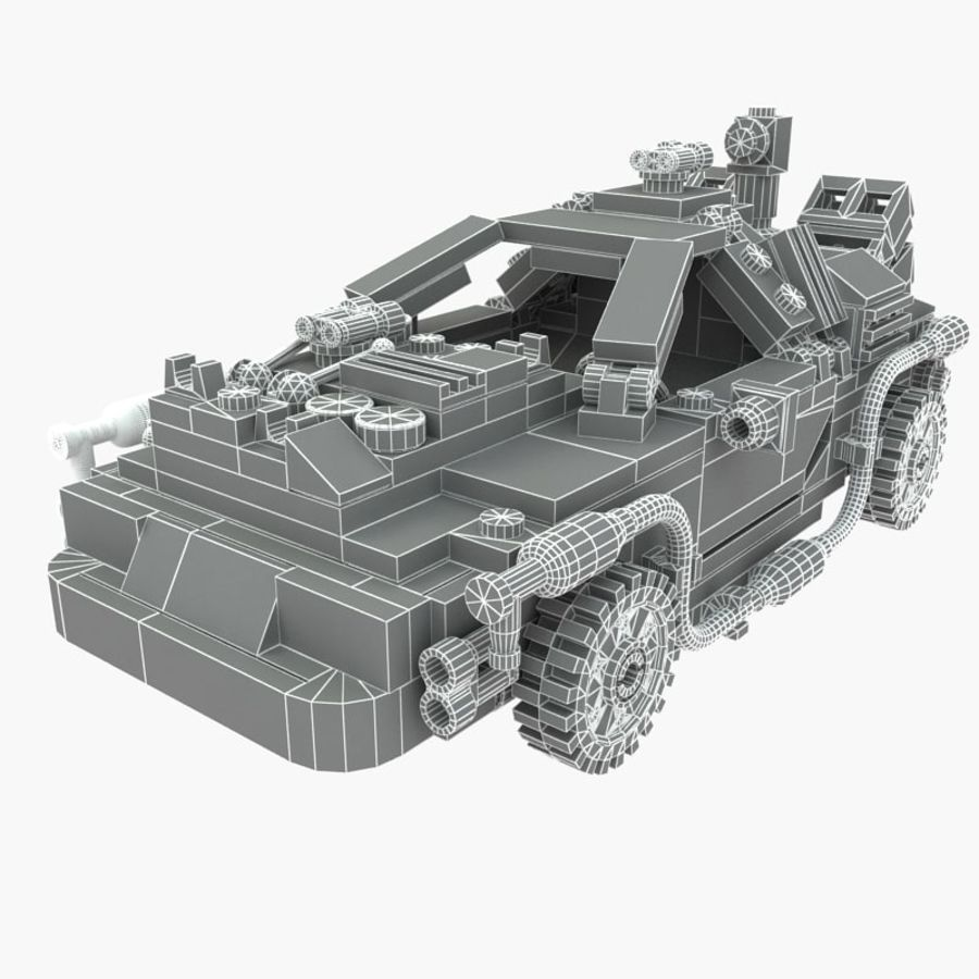 Delorean Lego De volta ao futuro royalty-free 3d model - Preview no. 3
