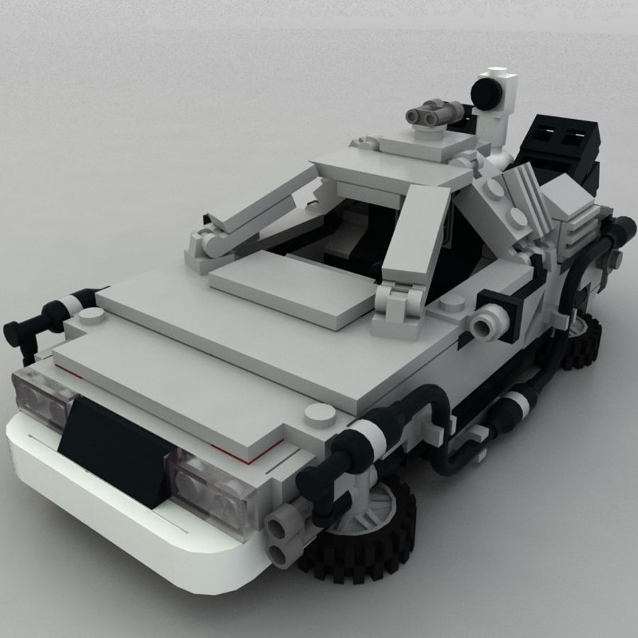 Delorean Lego De volta ao futuro royalty-free 3d model - Preview no. 7