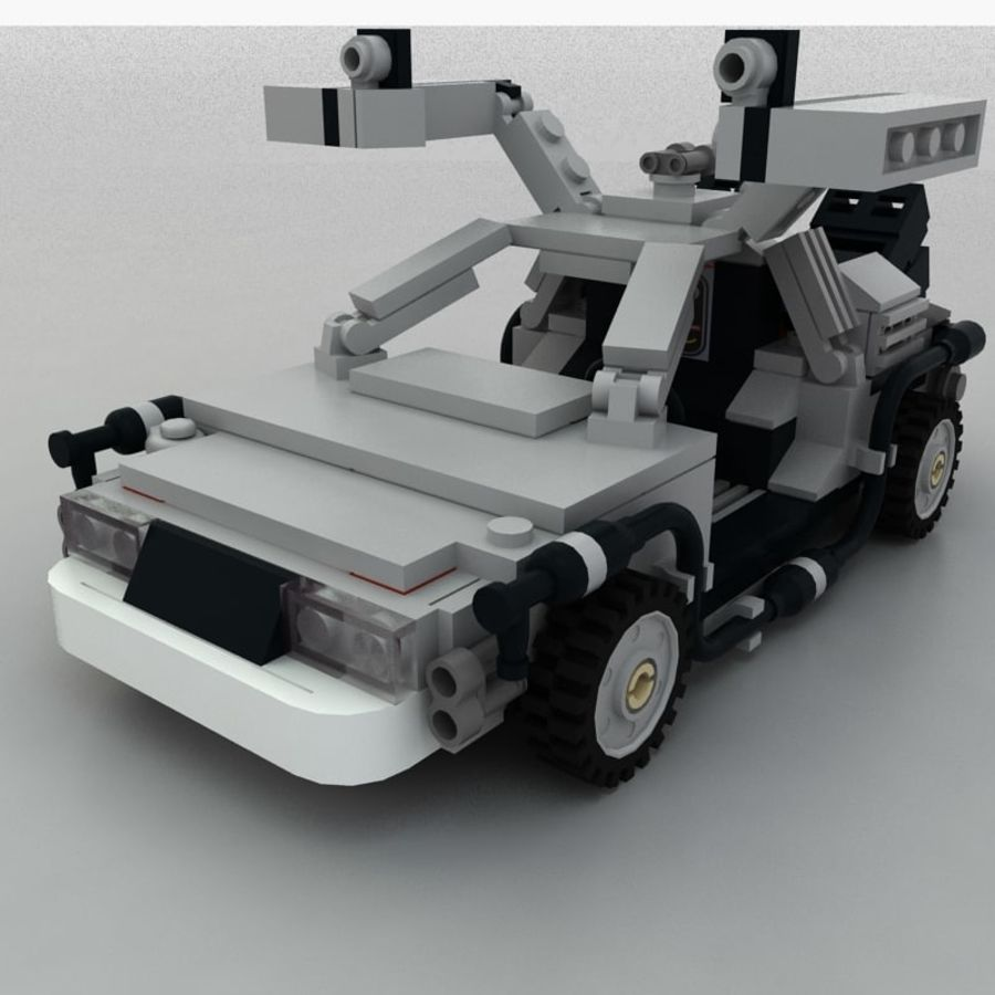 Delorean Lego De volta ao futuro royalty-free 3d model - Preview no. 6