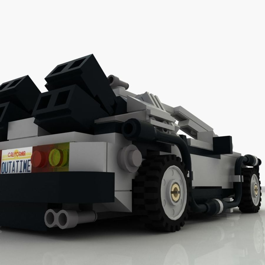 Delorean Lego De volta ao futuro royalty-free 3d model - Preview no. 11